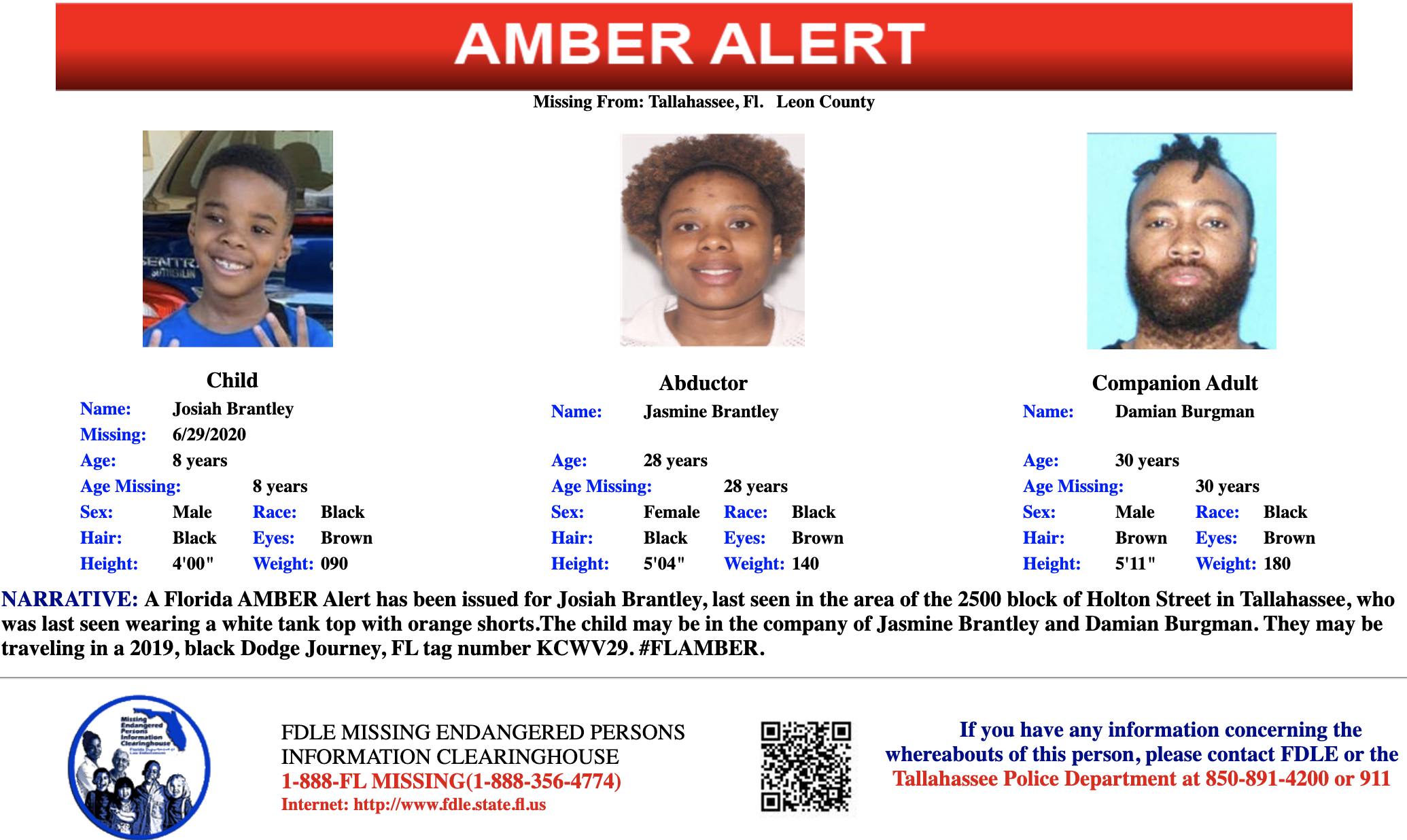 Florida Amber Alert Canceled For 8 Year Old Boy Found Safe