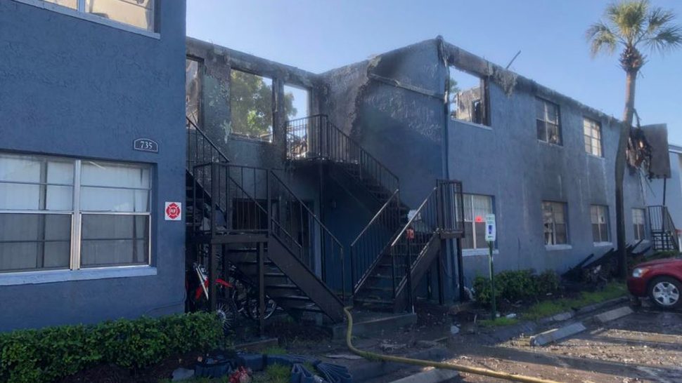 No one was hurt in this fire at the Royal Isles Apartments on Wednesay, Aug. 08, 2018. (Orlando Fire Department)