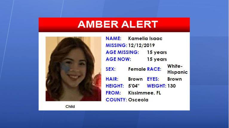 15 Year Old Kissimmee Girl In Amber Alert Found Safe
