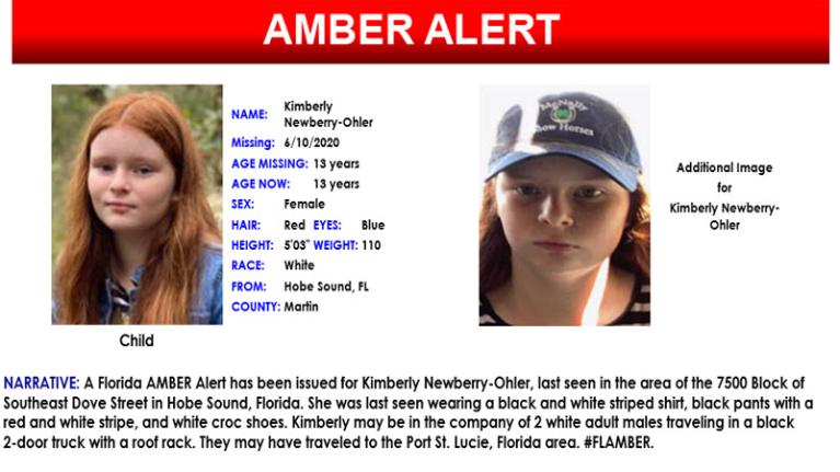 Amber Alert Canceled For 13 Year Old Florida Girl