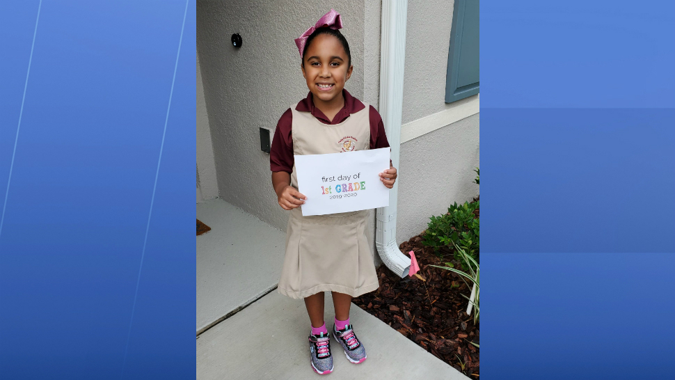 Sent to us with the Spectrum News 13 app: Mikayla is about to start 1st grade in Deltona! (Marie K. Torres/viewer)